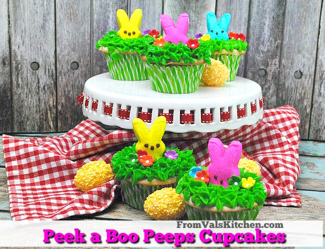 Peek a Boo Peeps Cupcakes Recipe - From Val's Kitchen