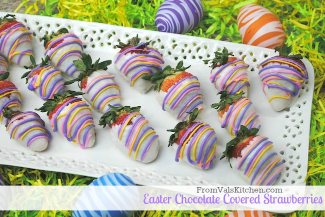 Easter Chocolate Covered Strawberries - From Val's KItchen
