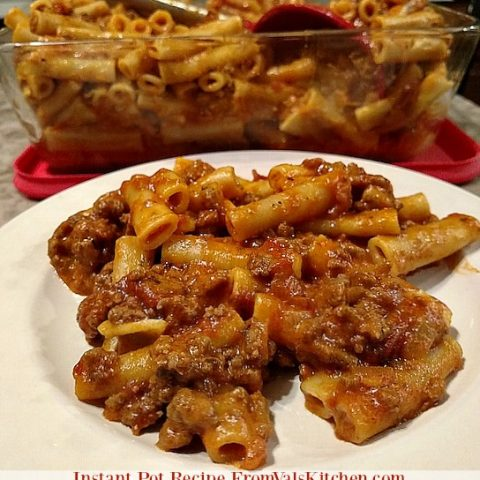Ziti With Ground Beef Instant Pot Recipe - From Val's Kitchen
