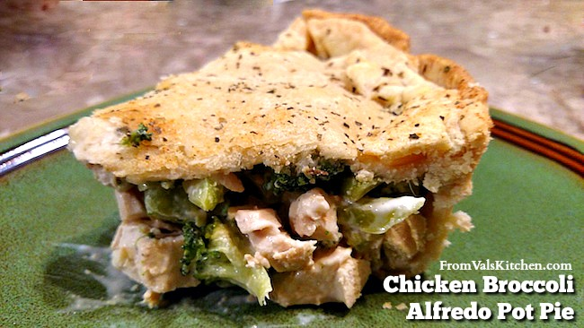 Chicken Broccoli Alfredo Pot Pie Recipe - From Val's Kitchen