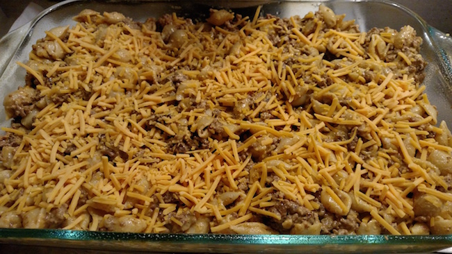 Cheddar Beef Pasta Bake Recipe From Val's Kitchen