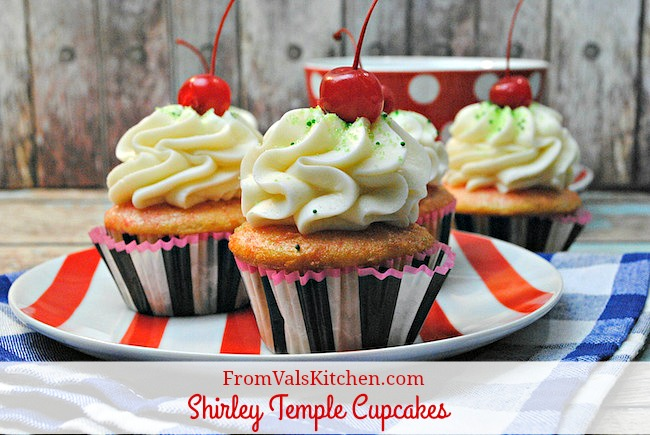 Shirley Temple Cupcakes recipe From Val's Kitchen