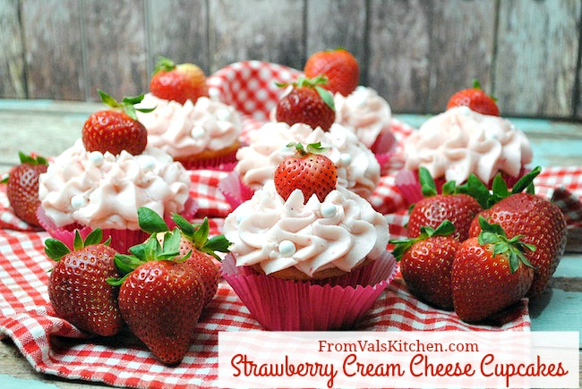 Strawberry Cream Cheese Cupcakes Recipe From Val's Kitchen