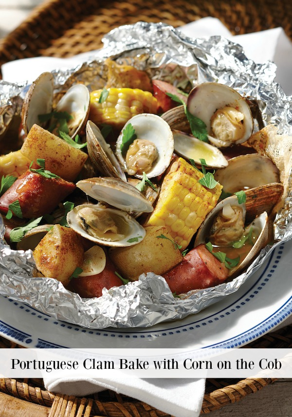 Portugese Clam Bake With Corn On The Cob Recipe - Cooking In Foil cookbook