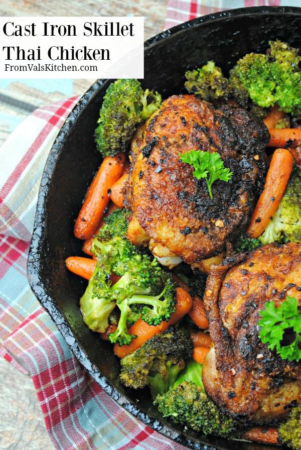 Cast Iron Skillet Thai Chicken Recipe From Val's Kitchen