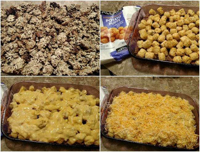 Cheesy Beef Potato Puff Casserole Recipe From Val's Kitchen
