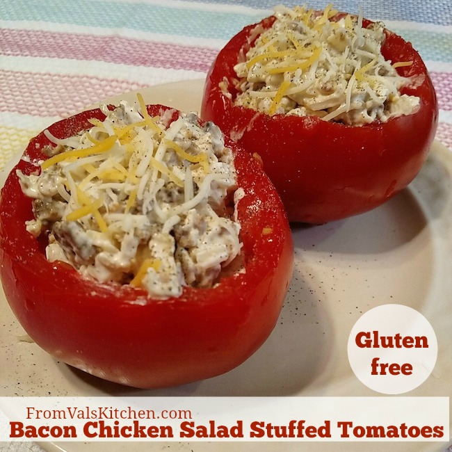 Bacon Chicken Salad Stuffed Tomatoes Recipe From Val's Kitchen