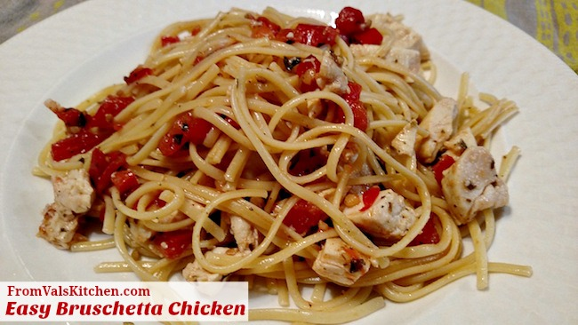Easy Bruschetta Chicken Recipe From Val's Kitchen