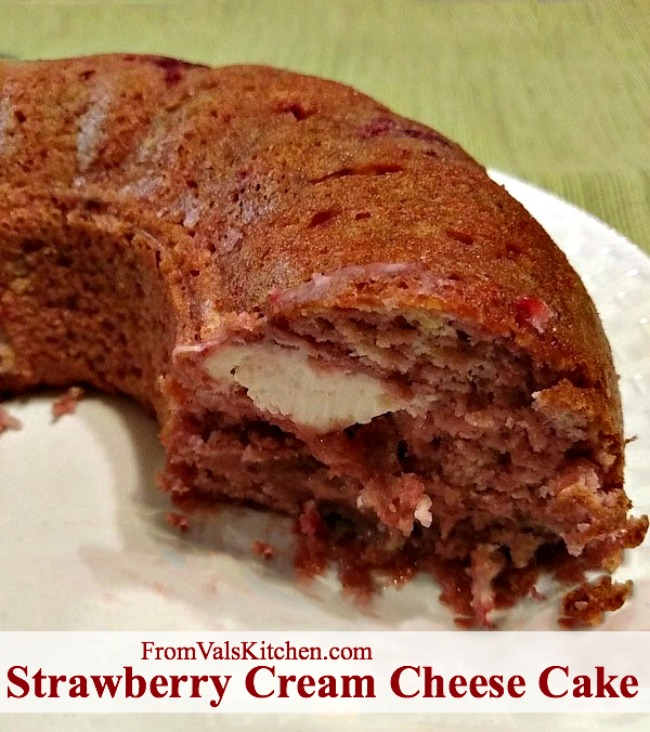 Strawberry Cream Cheese Cake Recipe From Val's Kitchen
