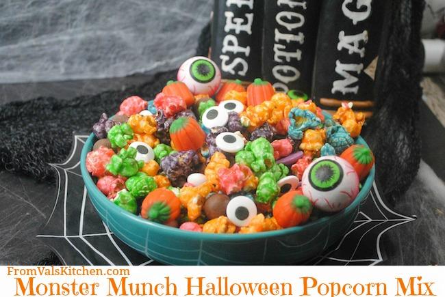 Monster Munch Halloween Popcorn Mix Recipe From Val's Kitchen