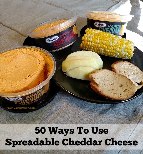 50 Ways To Use Spreadable Cheddar Cheese - Alouette Cheddar #ThisIsCheese