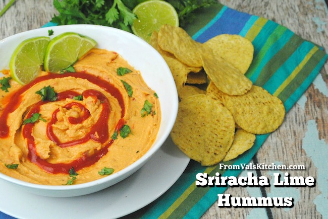 Sriracha Lime Hummus Recipe From Val's Kitchen
