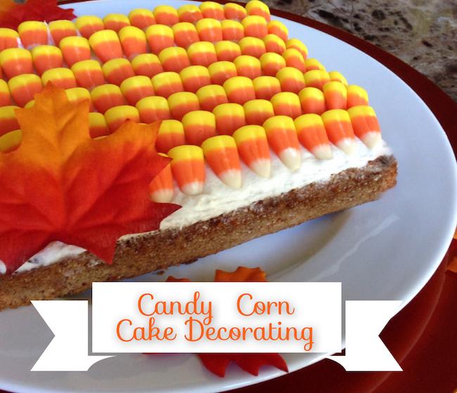10 Fun Candy Corn Recipes - candy corn cake decorating
