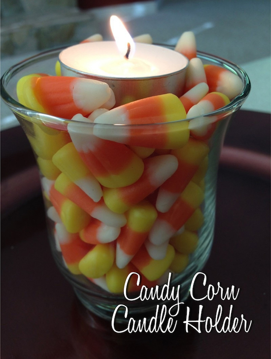 5 Arts & Crafts Projects Using Candy Corn - candle holder