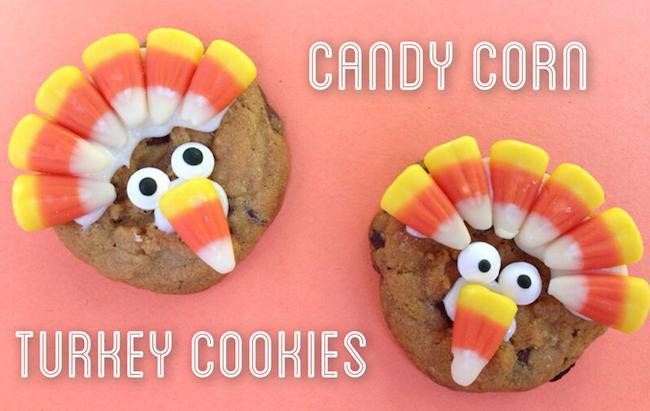 10 Fun Candy Corn Recipes - candy corn turkey cookies