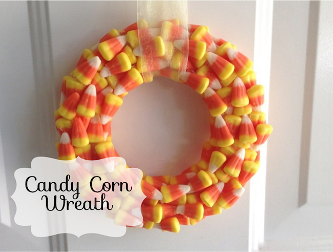 5 Arts & Crafts Projects Using Candy Corn - Candy Corn Wreath