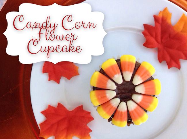 10 Fun Candy Corn Recipes - candy corn flower cupcakes