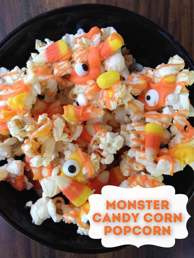 10 Fun Candy Corn Recipes - Monster Candy Corn Popcorn