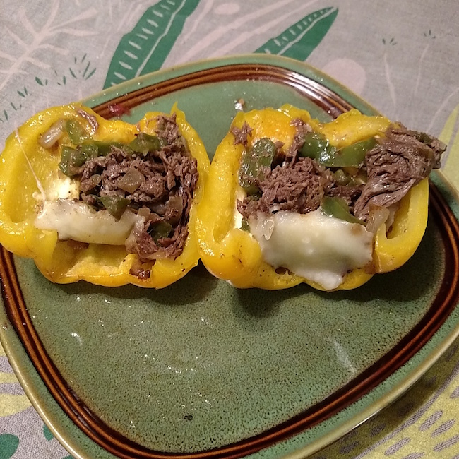 Cheesesteak Stuffed Peppers Recipe From Val's Kitchen