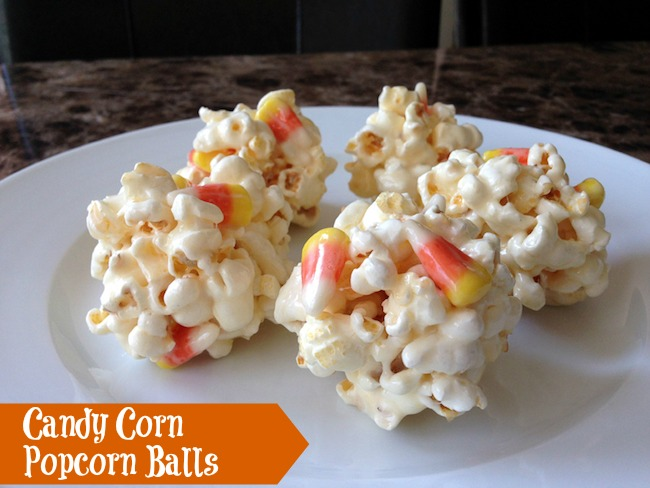10 Fun Candy Corn Recipes - candy corn popcorn balls