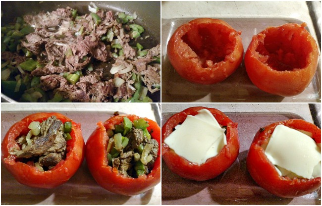 Peppersteak Stuffed Tomatoes Recipe From Val's Kitchen