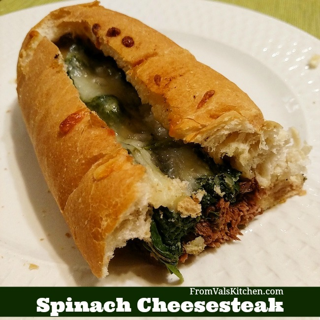 Spinach Cheesesteak Recipe From Val's Kitchen