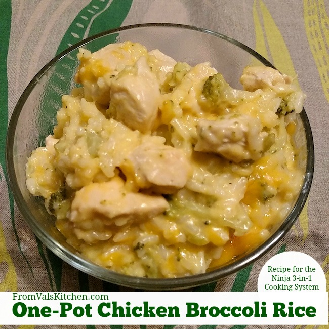 One-Pot Chicken Broccoli Rice Recipe For Ninja 3-in-1 Cooking System