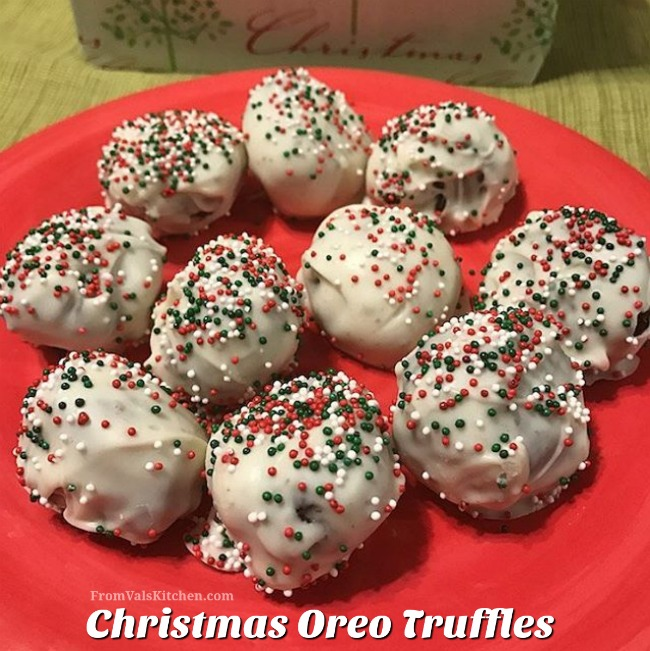 Christmas Oreo Truffles #Recipe