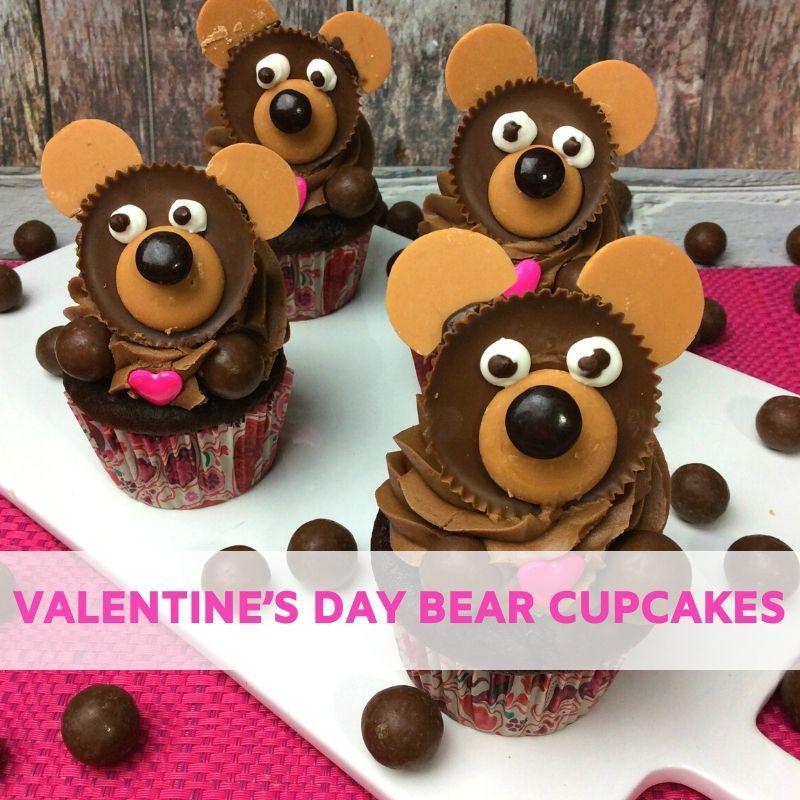 Valentine's Day Bear Cupcakes Recipe