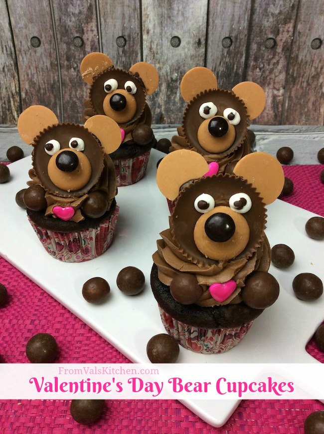 Valentine's Day Bear Cupcake Recipe From Val's Kitchen
