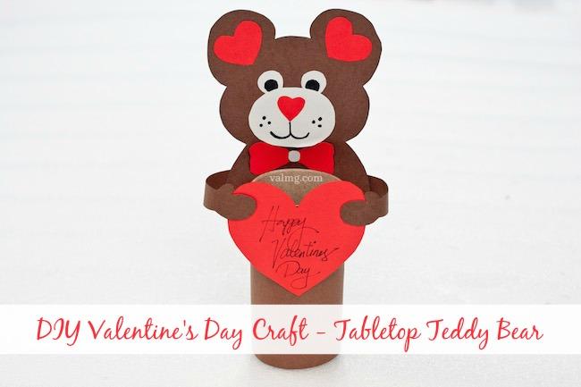 Mom Knows It All DIY Valentine's Day Craft - Tabletop Teddy Bear