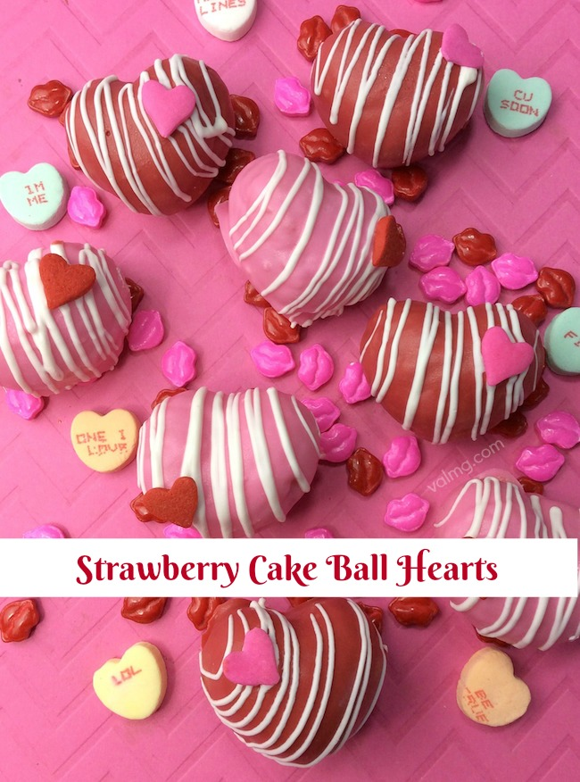 Strawberry Cake Ball Hearts Recipe From Val's Kitchen