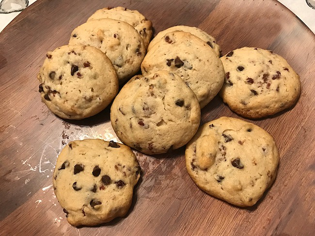 5-Ingredient Maple Bacon Chocolate Chip Pancake Mix Cookies Recipe From Val's Kitchen
