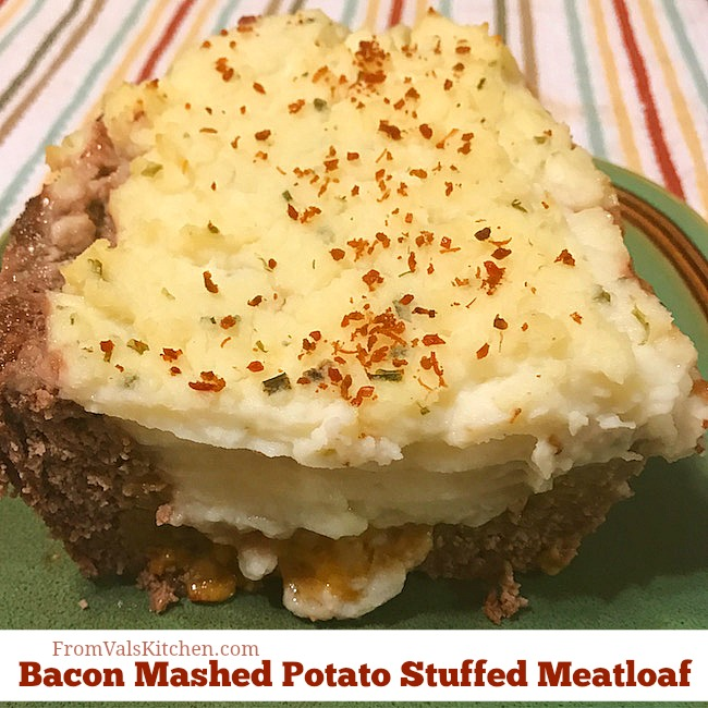 Gluten-free Bacon Mashed Potato Stuffed Meatloaf Recipe From Val's Kitchen