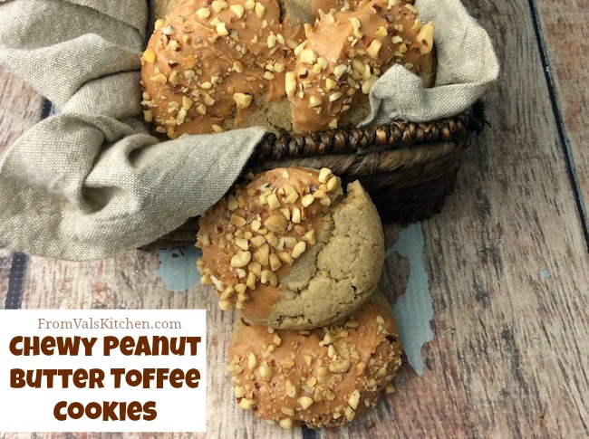 Chewy Peanut Butter Toffee Cookies Recipe From Val's Kitchen