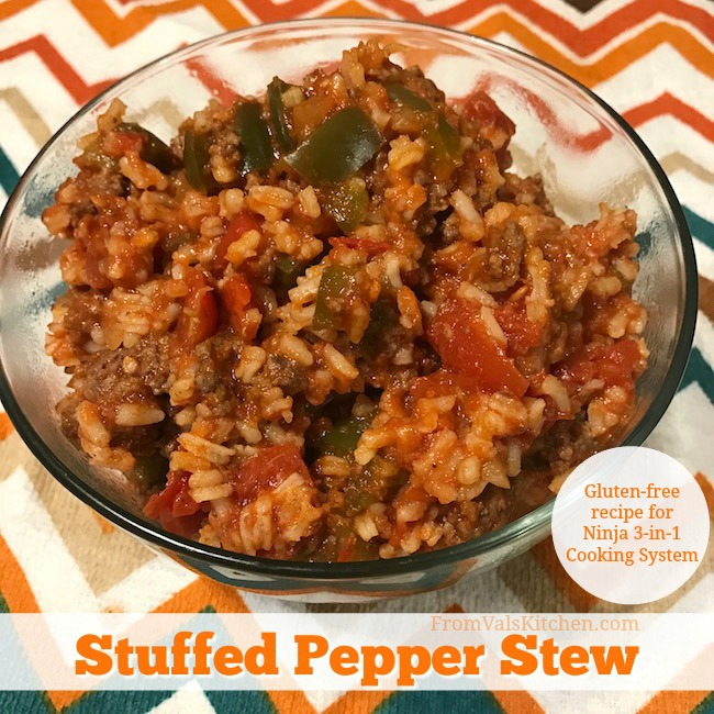 Gluten-free Stuffed Pepper Stew Recipe For Ninja 3-in-1 Cooking System From Val's Kitchen