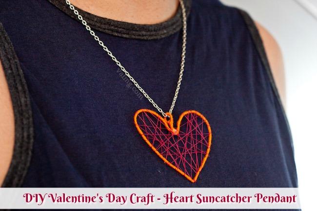 Mom Knows It All DIY Valentine's Day Craft - Heart Suncatcher Pendant