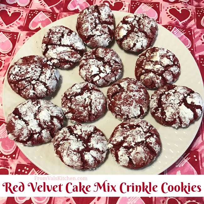 Red Velvet Cake Mix Crinkle Cookies Recipe From Val's Kitchen
