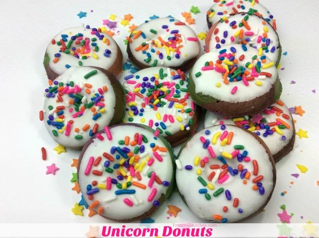 Unicorn Mini Donuts Recipe From Val's Kitchen