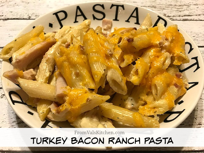 Turkey Bacon Ranch Pasta Recipe From Val's Kitchen - Bialetti & Academia Barilla #MomBlogTourFF