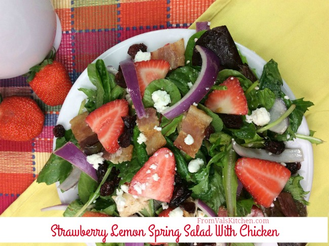 Strawberry Lemon Spring Salad With Chicken Recipe From Val's Kitchen