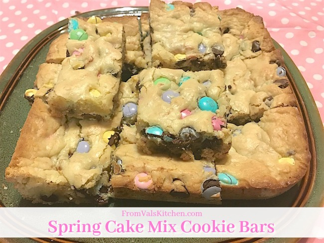 Spring Cake Mix Cookie Bars Recipe From Val's Kitchen