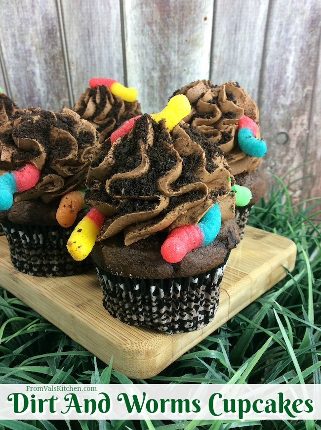 Dirt And Worms Cupcakes Recipe From Val's Kitchen