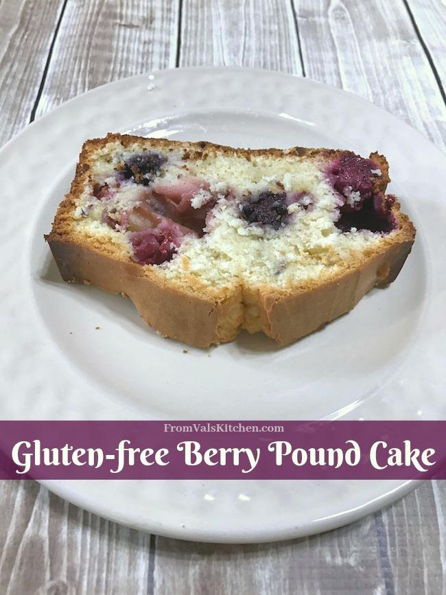 Gluten-free Berry Pound Cake Recipe - With Real California Milk #MomBlogTourFF