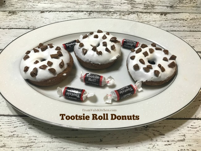 Tootsie Roll Donuts Recipe From Val's Kitchen #MomBlogTourFF