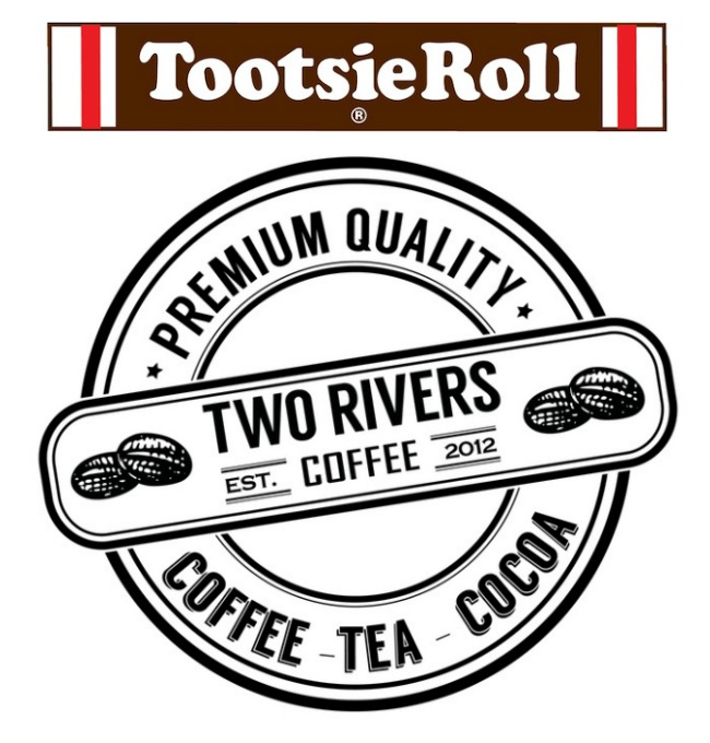 Tootsie Roll and Two Rivers Coffee logos