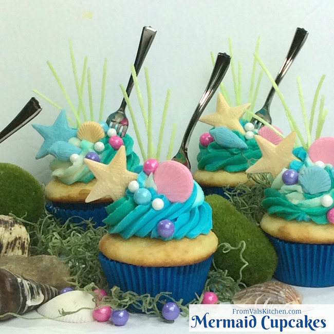 Mermaid Cupcakes Recipe From Val's Kitchen