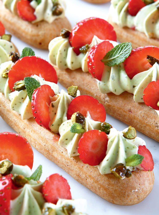 COOKBOOK REVIEW - ÉCLAIRS Easy, Elegant & Modern Recipes - With Strawberry Eclairs Recipe