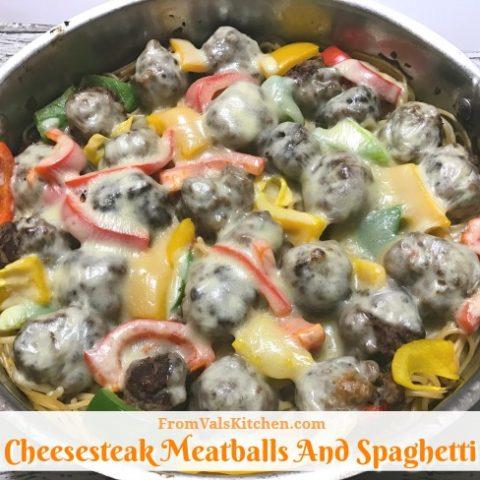 Cheesesteak Meatballs And Spaghetti