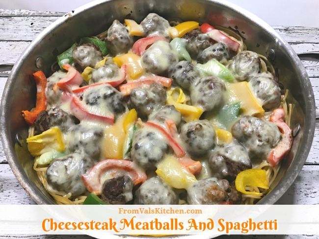 Cheesesteak Meatballs And Spaghetti